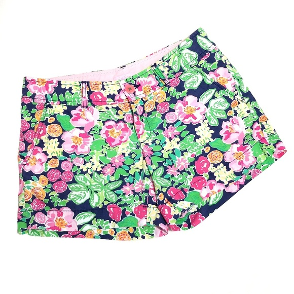 Lilly Pulitzer Floral Garden Getaway Walsh Shorts